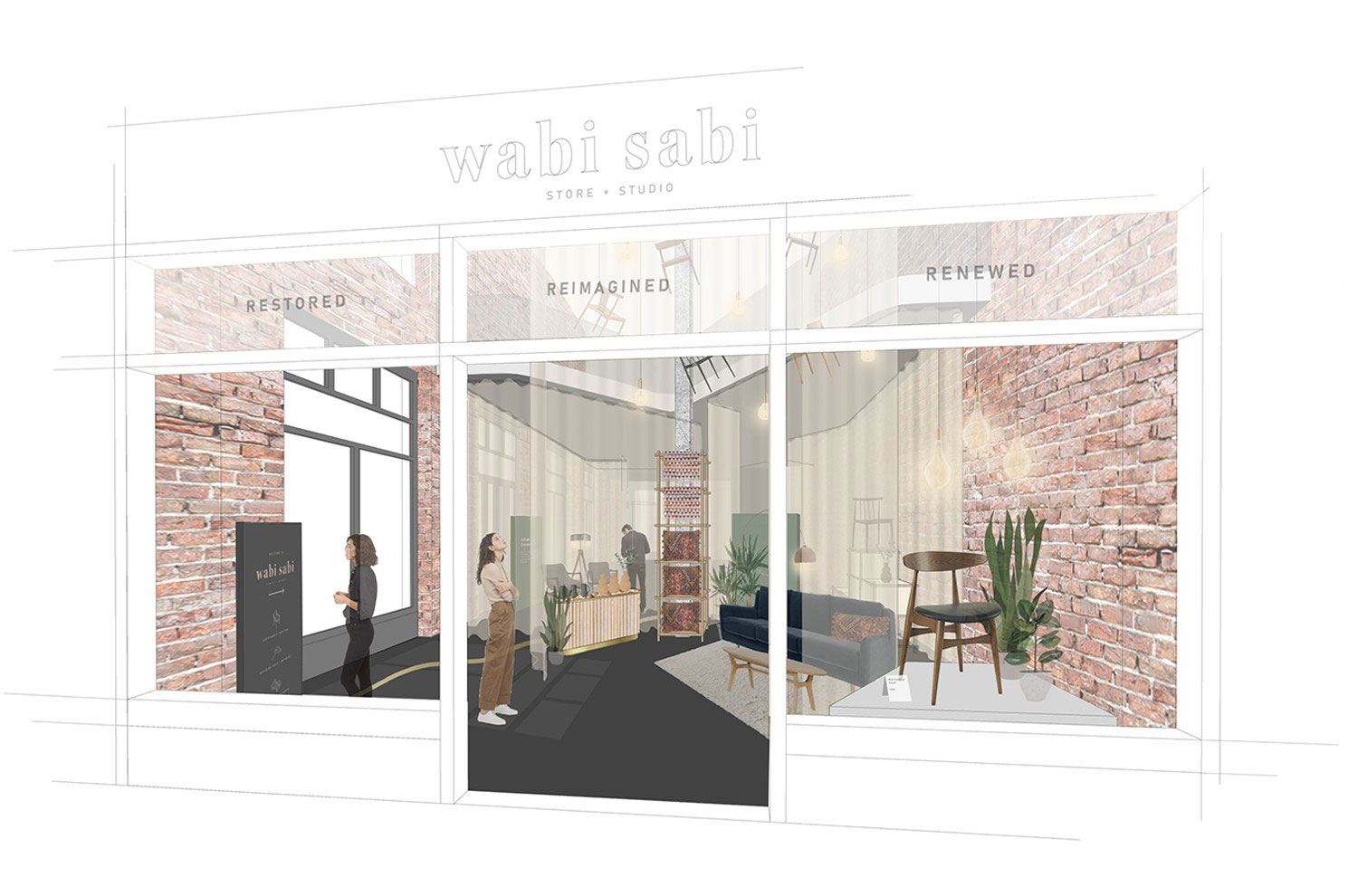 Wabi Sabi is a space for upcycling workshops and retail, highlighting the current backlash to a throw-away society