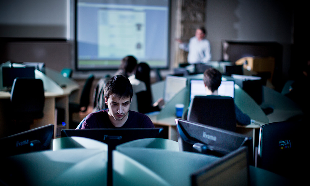 Students in the Computing and Engineering 24 hour lab